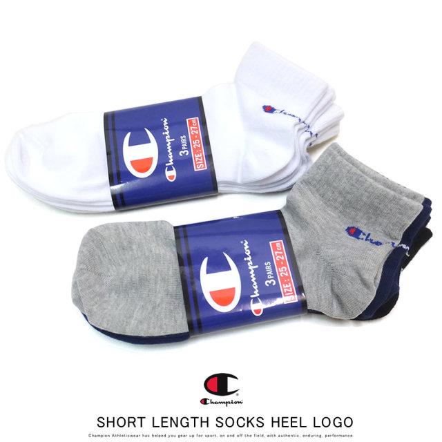 CHAMPION チャンピオン ソックス SHORT LENGTH SOCKS HEEL LOGO CMSCP302