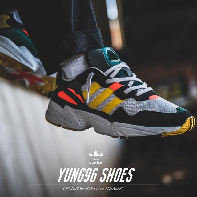 adidas アディダス スニーカー メンズ YUNG-96 ストリート系 ヒップホップ スポーツ ファッション DB2605 靴 通販