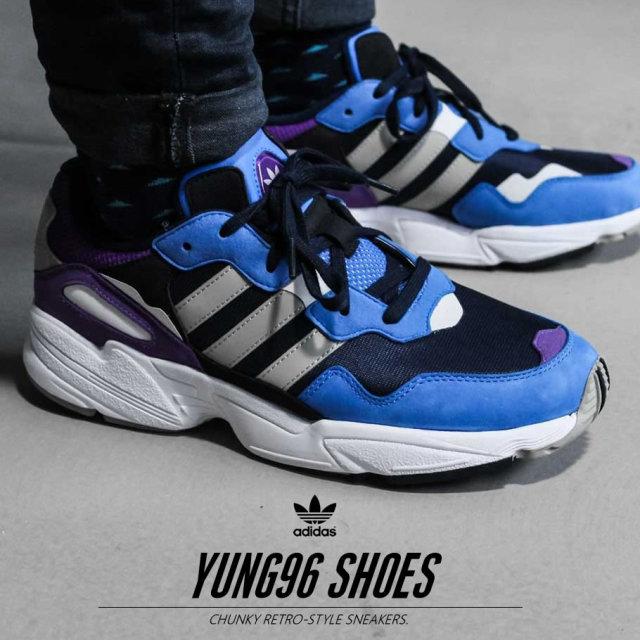 adidas アディダス スニーカー メンズ YUNG-96 ストリート系 ヒップホップ スポーツ ファッション DB2606 靴 通販