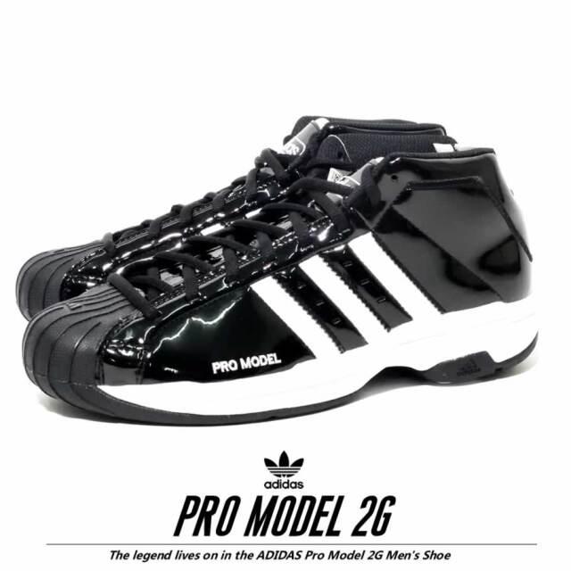 adidas アディダス スニーカー メンズ ブラック PRO MODEL 2G EF9821