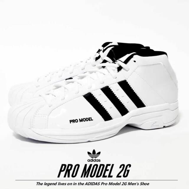 adidas アディダス スニーカー メンズ ホワイト PRO MODEL 2G EF9824