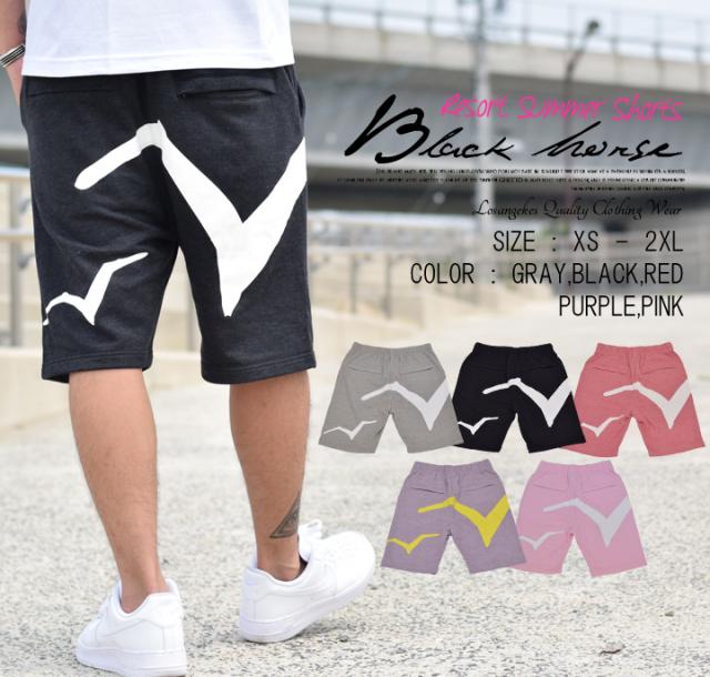 BLACK HORSE (ブラックホース) ハーフスウェットパンツ BHDT017