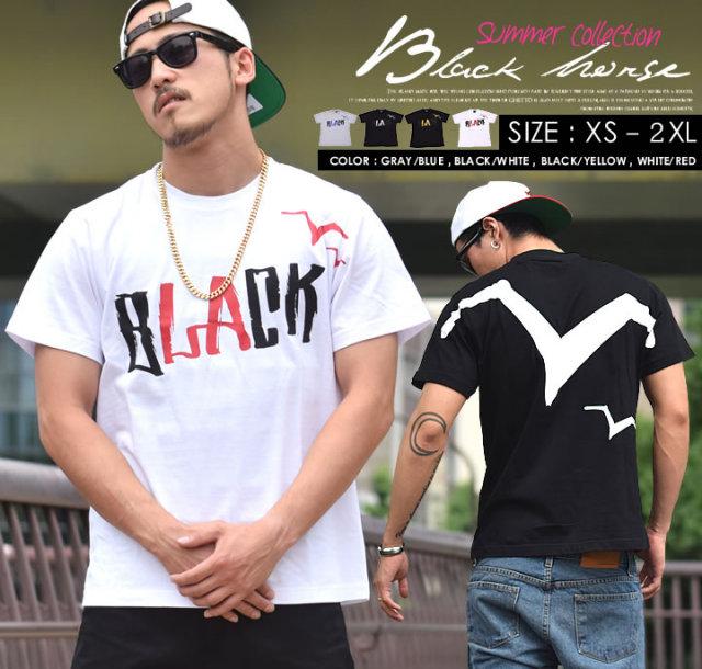 BLACK HORSE (ブラックホース) 半袖Tシャツ メンズ BHTT013 b系 ストリート系 ファッション 服 通販 激安 セール SALE
