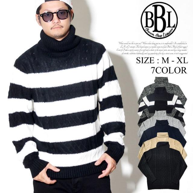 BROWN BAG LIQUOR ブラウンバックリカー タートルネック ニット セーター メンズ カジュアル ストリート系 ファッション 通販 BBL-SH1705 BNPT025