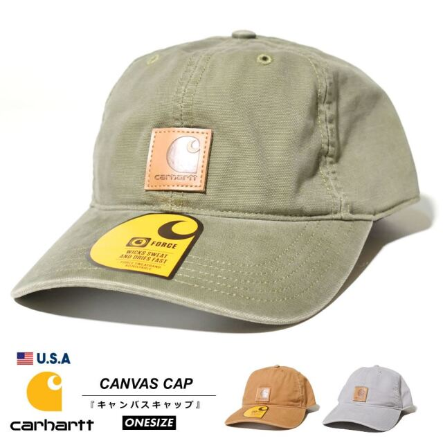 Carhartt カーハート キャップ 帽子 メンズ レディース ダックキャンバス生地 USAモデル オデッサキャップ 100289