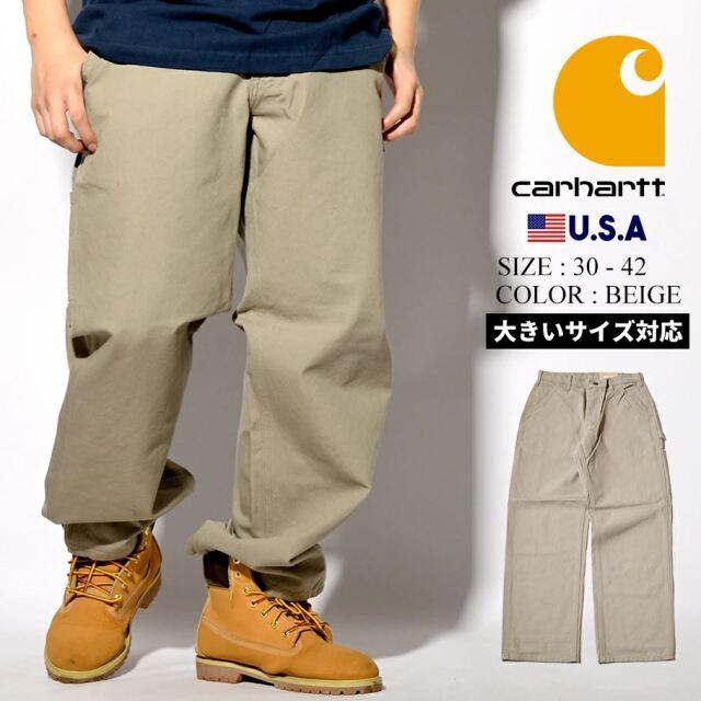 カーハート ダックキャンバス ワークパンツ ペインターパンツ メンズ ワイド 大きいサイズ USAモデル Carhartt WASHED DUCK WORK PANT B11