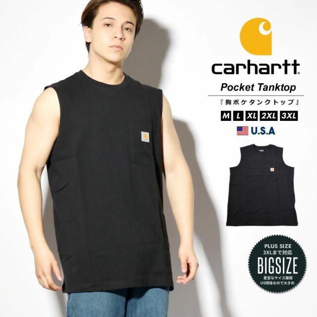 Carhartt カーハート タンクトップ メンズ ヘビーウェイト ビッグシルエット 大きいサイズ USAモデル 100374