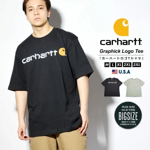 Carhartt カーハート Tシャツ メンズ 半袖 ブランドロゴ ヘビーウェイト ビッグシルエット 大きいサイズ USAモデル K195