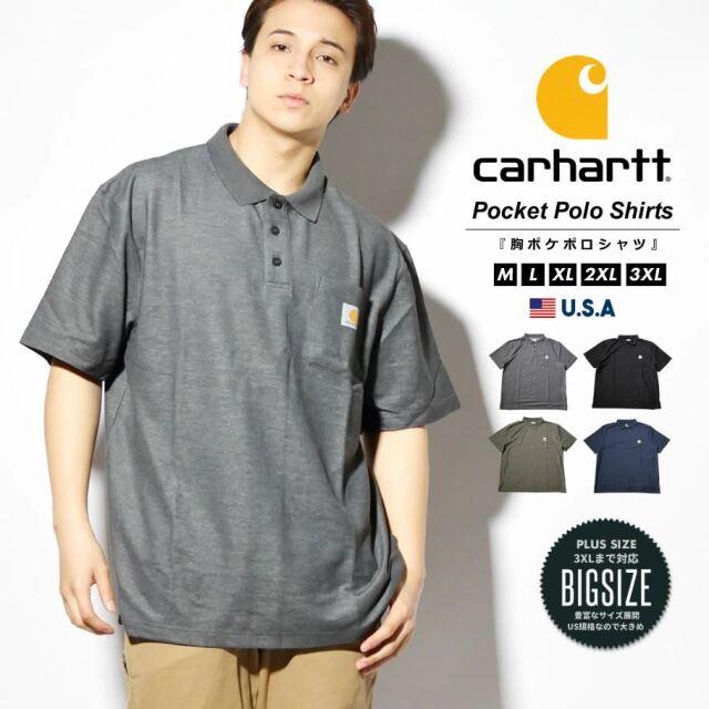 Carhartt カーハート ポロシャツ メンズ 半袖 速乾 ビッグシルエット 大きいサイズ USAモデル K570