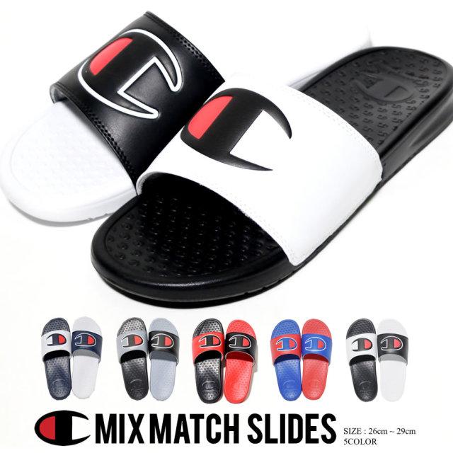 チャンピオン Champion シャワーサンダル メンズ バイカラー ロゴ ストリート系 ヒップホップ ファッション CM100339M 靴 通販