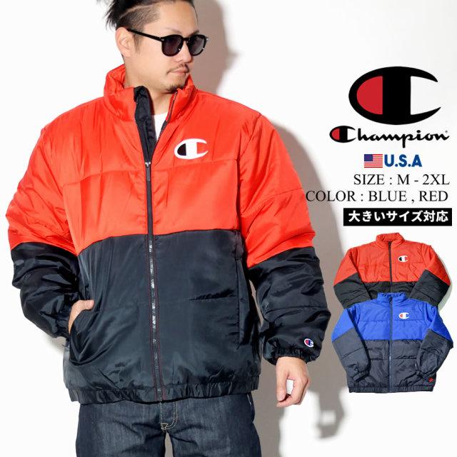 Champion チャンピオン 中綿 スタジャン ジャケット メンズ 大きいサイズ ストリート系 スポーツ ファッション 服 V4522 通販