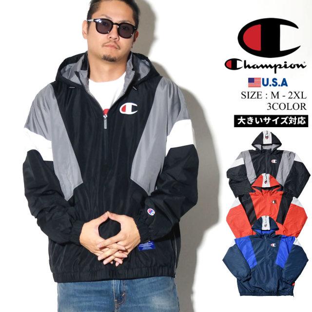 Champion チャンピオン アノラックジャケット メンズ 大きいサイズ ストリート系 スポーツ ファッション 服 V4521 通販