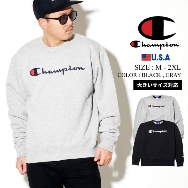 Champion チャンピオン トレーナー メンズ レディース スクリプトロゴ GF88H 服 通販