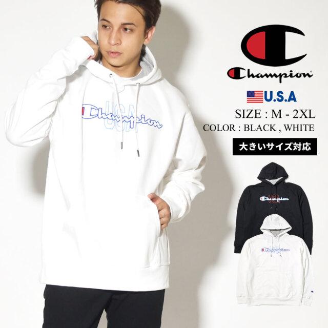 champion チャンピオン パーカー メンズ 大きいサイズ ロゴ POWERBLEND GRAPHIC HOODIE GF89H586232