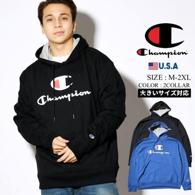 champion チャンピオン パーカー メンズ 大きいサイズ ロゴ POWERBLEND GRAPHIC HOODIE GF89H586222