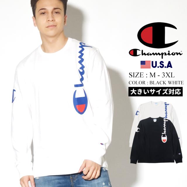 champion チャンピオン ロンT 長袖Tシャツ メンズ ロゴ 大きいサイズ HERITAGE LONG SLEEVE TEE T3822 550257