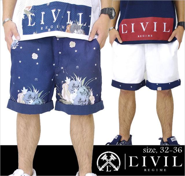 B系ストリート系メンズファッション通販 CIVIL CLOTHING ハーフパンツ 14CV-SM139-37
