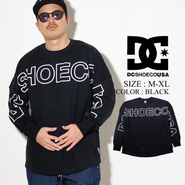 DC SHOES ディーシー ロンT 長袖Tシャツ 20 FRONTLOGO LS RELAXED DESIGN 5125J025 ブラック