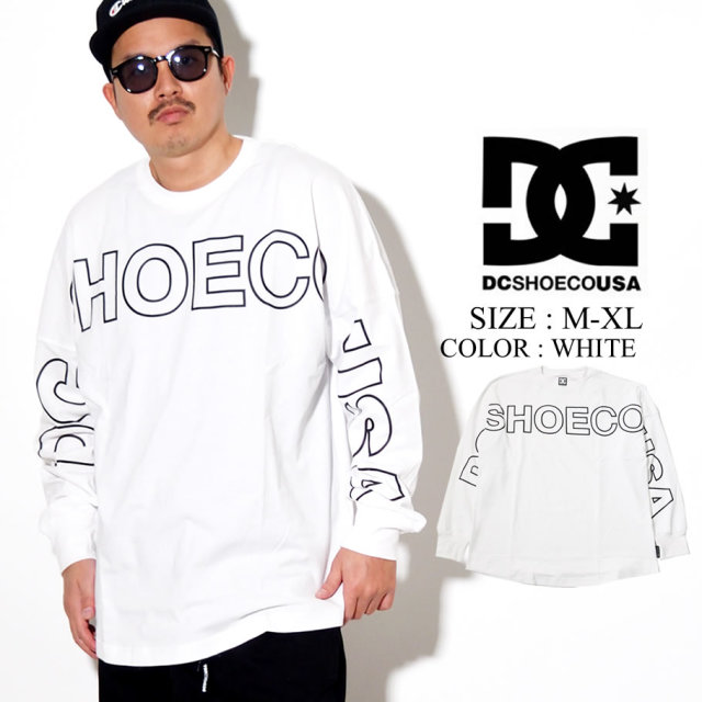 DC SHOES ディーシー ロンT 長袖Tシャツ 20 FRONTLOGO LS RELAXED DESIGN 5125J025 ホワイト
