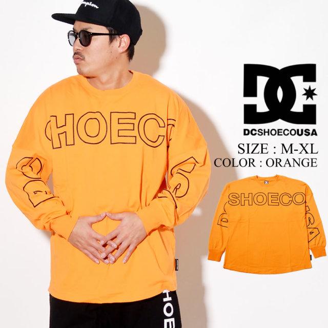 DC SHOES ディーシー ロンT 長袖Tシャツ 20 FRONTLOGO LS RELAXED DESIGN 5125J025 オレンジ
