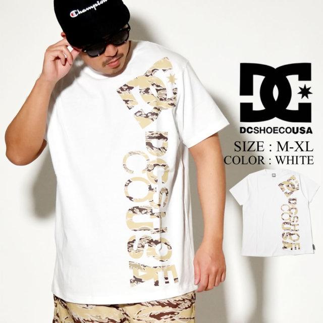 DC SHOES ディーシー シューズ Tシャツ メンズ 半袖 ホワイト 迷彩ロゴ 20 PRINT VERTICAL SS 5226J01