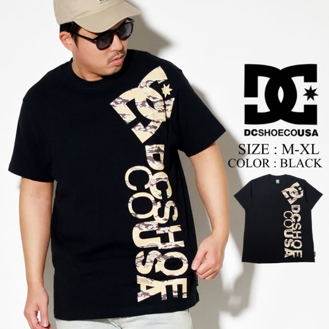 DC SHOES ディーシー シューズ Tシャツ メンズ 半袖 ブラック 迷彩ロゴ 20 PRINT VERTICAL SS 5226J014