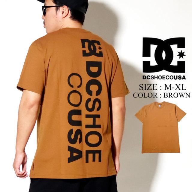 DC SHOES ディーシー シューズ ポケット Tシャツ メンズ 半袖 ブラウン 20 BACKLOGO SS 5226J006