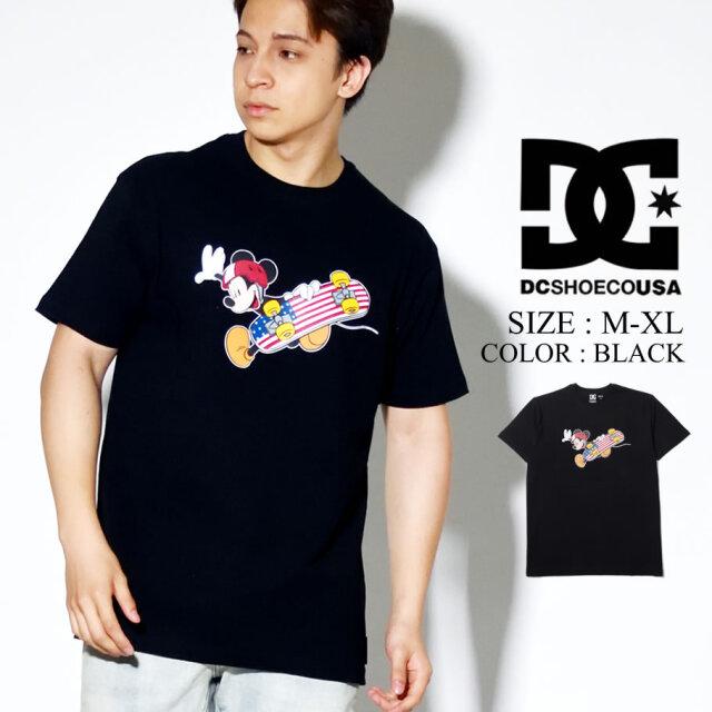 DC SHOES DISNEY Tシャツ 半袖 ミッキー プリント コラボ ディズニー ブラック 5226J041