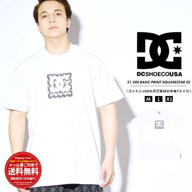 ディーシーシューズ DC SHOES Tシャツ メンズ 半袖 ペイズリー柄ボックスロゴ 20S BASIC PRINT SQUARESTAR SS ホワイト DST212009 2021 春夏 新作