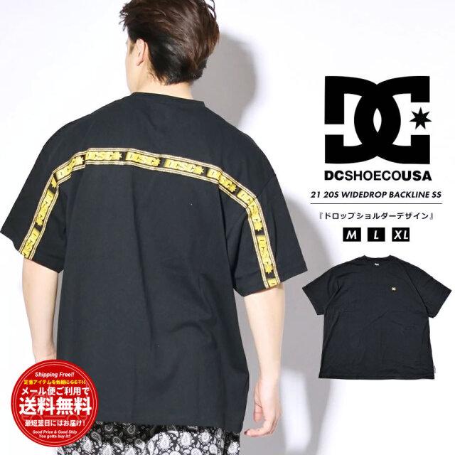 ディーシーシューズ DC SHOES Tシャツ メンズ 半袖 メタルロゴ バックライン 20S WIDEDROP BACKLINE SS ブラック DST212010 2021 春夏 新作