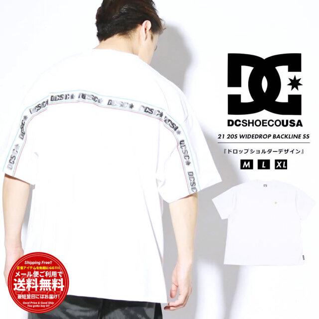 ディーシーシューズ DC SHOES Tシャツ メンズ 半袖 メタルロゴ バックライン 20S WIDEDROP BACKLINE SS ホワイト DST212010 2021 春夏 新作
