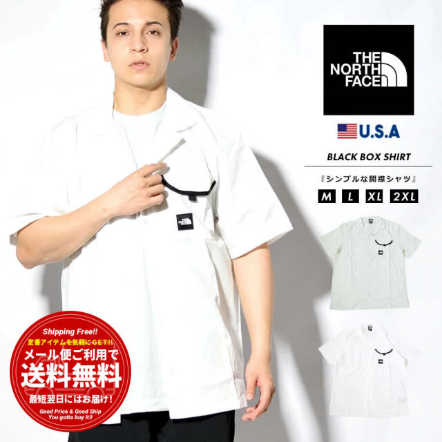 ザ・ノースフェイス THE NORTH FACE シャツ メンズ 半袖 開襟 オープンカラー カジュアルシャツ ブランド おしゃれ USAモデル BLACK BOX SHIRT NF0A4T23