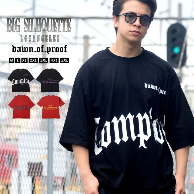 DOP ディーオーピー Tシャツ メンズ 半袖 ビックシルエット Compton コンプトン B系 ヒップホップ HIPHOP ファッション