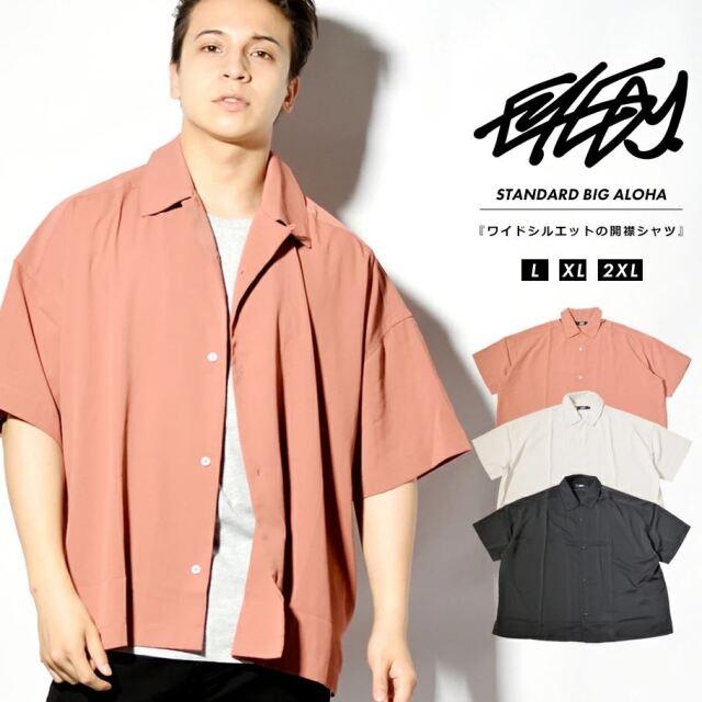 EYEDY アイディー 開襟シャツ メンズ 半袖 オープンカラー カジュアルシャツ 夏 オーバーサイズ ビッグシルエット ストリート ルード系 ブランド EYE-SH2103