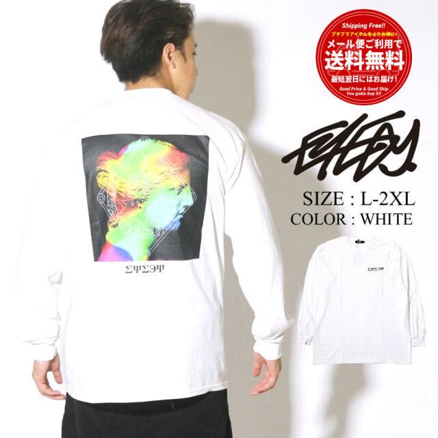 EYEDY 長袖Tシャツ ロンT メンズ バックプリント ホワイト EYE-401LS