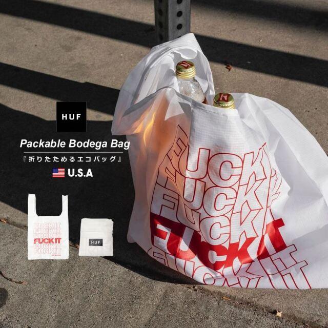 HUF ハフ エコバッグ ショッパーバッグ トートバッグ 鞄 メンズ レディース USAモデル ファックイットパッカブルボデガバッグ AC00476 2021 春夏 新作