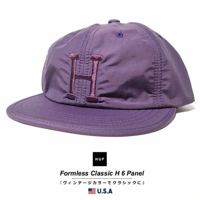 HUF ハフ キャップ 帽子 メンズ レディース USAモデル フォームレスクラシックH6パネル プラム HT00525 2021 春夏 新作