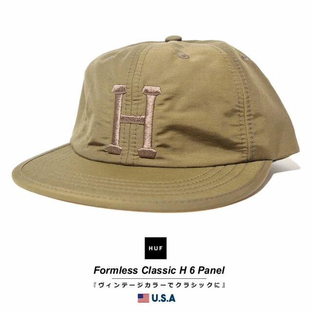 HUF ハフ キャップ 帽子 メンズ レディース USAモデル フォームレスクラシックH6パネル ミリタリーグリーン HT00525 2021 春夏 新作