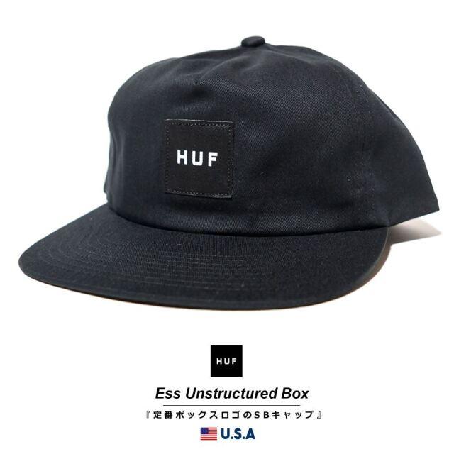HUF ハフ キャップ 帽子 メンズ レディース USAモデル エッセンシャルアンストラクチャードボックススナップバック ブラック HT00544 2021 春夏 新作