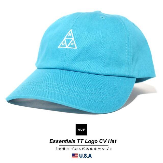 HUF ハフ キャップ 帽子 メンズ レディース USAモデル エッセンシャルズTTロゴCVハット マリーナ HT00346 2021 春夏 新作