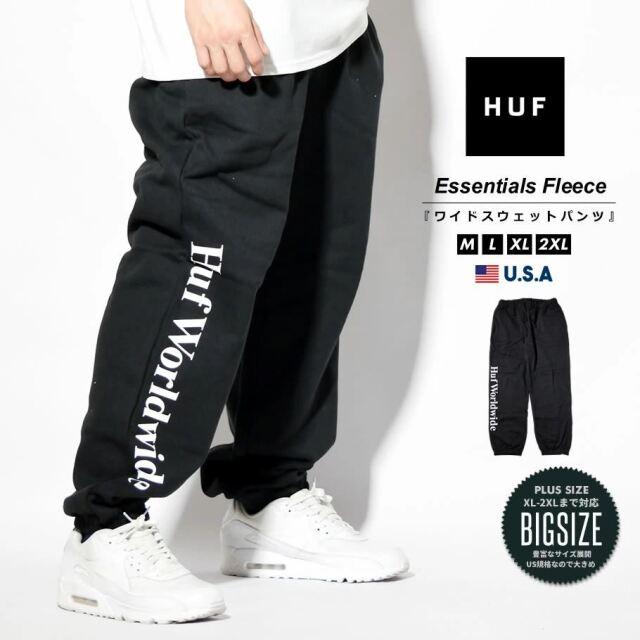 HUF ハフ スウェットパンツ メンズ USAモデル ESSENTIALS FLEECE PANT ブラック PT00176 2021 春夏 新作