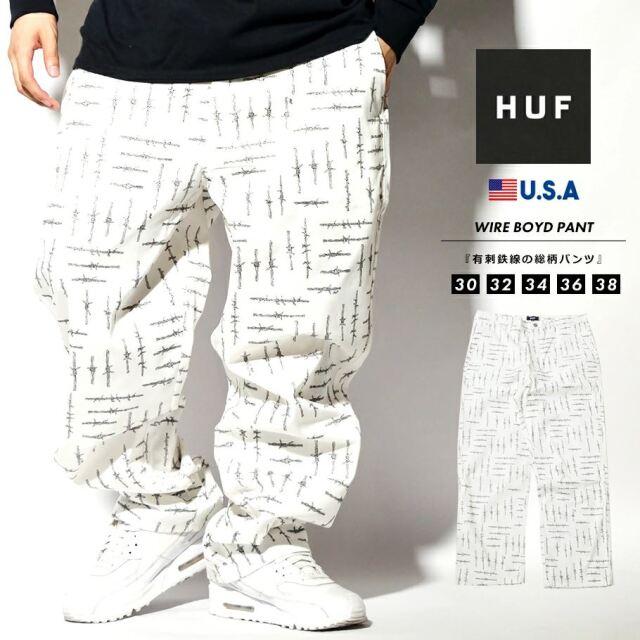 HUF ハフ スケートパンツ ワイドパンツ メンズ 有刺鉄線柄 ブランド USAモデル WIRE BOYD PANT PT00167