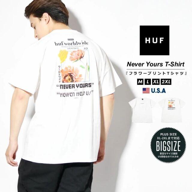 HUF ハフ Tシャツ メンズ レディース 半袖 USAモデル NEVER YOURS S/S TEE ホワイト TS01457 2021 春夏 新作