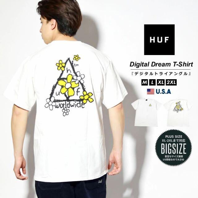 HUF ハフ Tシャツ メンズ レディース 半袖 USAモデル PUSHING DAISIES TT S/S TEE ホワイト TS01339 2021 春夏 新作