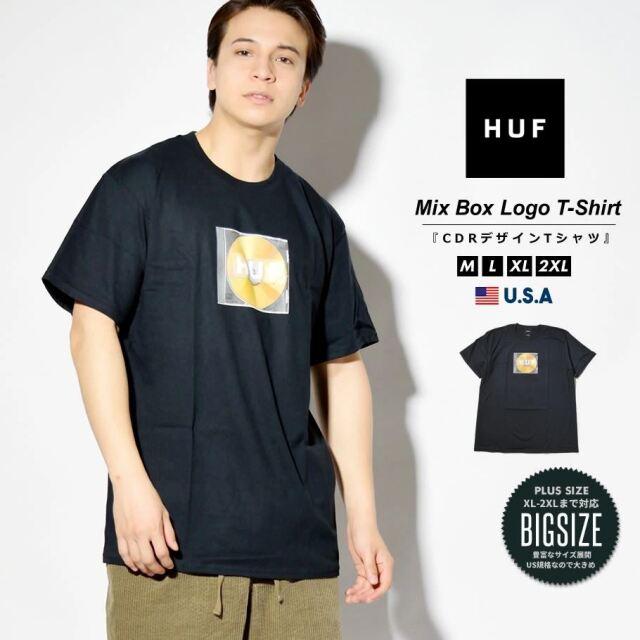 HUF ハフ Tシャツ メンズ レディース 半袖 USAモデル MIX BOX LOGO S/S TEE ブラック TS01343 2021 春夏 新作