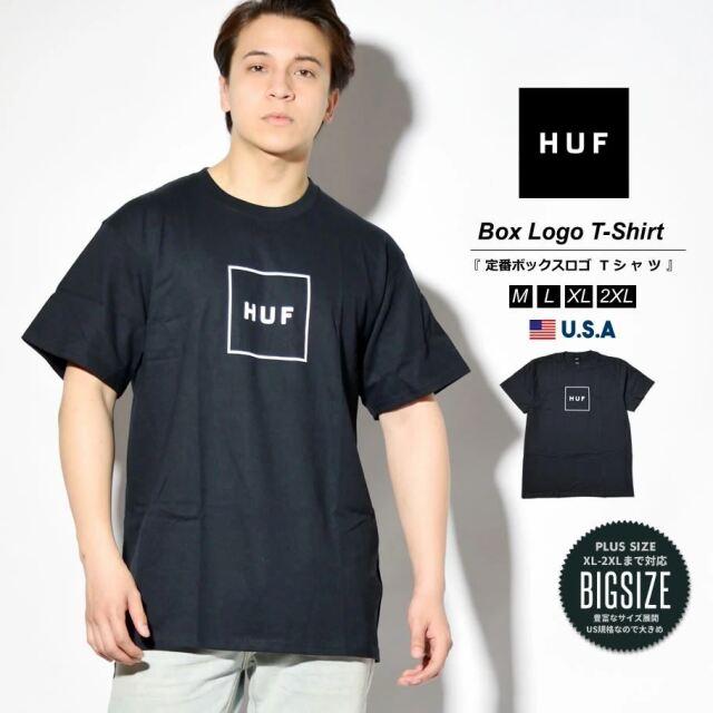 HUF ハフ Tシャツ メンズ レディース 半袖 USAモデル ESSENTIALS OG LOGO S/S TEE ブラック TS00507 2021 春夏 新作
