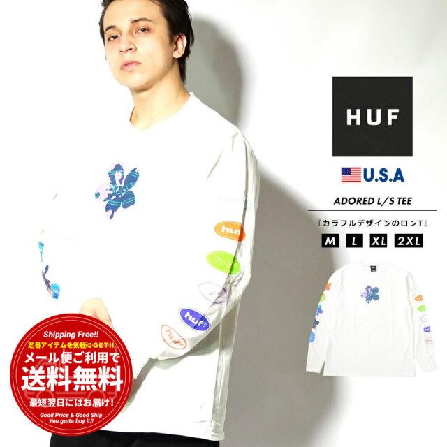 HUF ハフ ロンT 長袖Tシャツ メンズ ブランド USAモデル ADORED L/S TEE ホワイト TS01408
