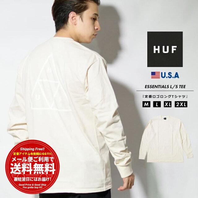 HUF ハフ ロンT 長袖Tシャツ メンズ ブランド USAモデル ESSENTIALS TT L/S TEE アイボリー TS01546