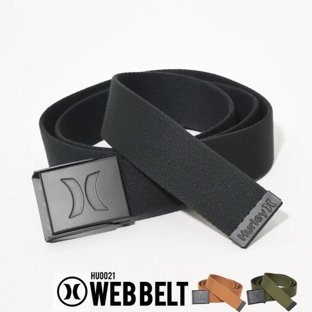 HURLEY ハーレー ガチャベルト メンズ レディース ロゴ ブラック WEB BELT HU0021