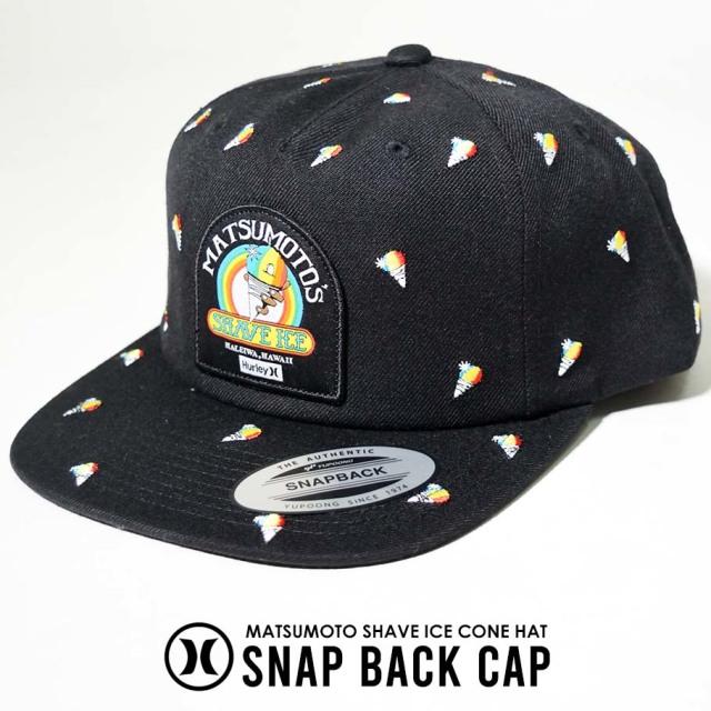 Hurley ハーレー スナップバックキャップ メンズ 帽子 総柄 MATSUMOTO SHAVE ICE CONE HAT CQ0980